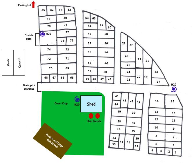 Garden plot map